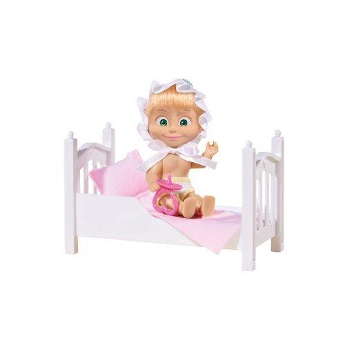 Купить Набор Simba Маша с кроваткой и аксессуарами 12 см 9301821, Куклы и пупсы