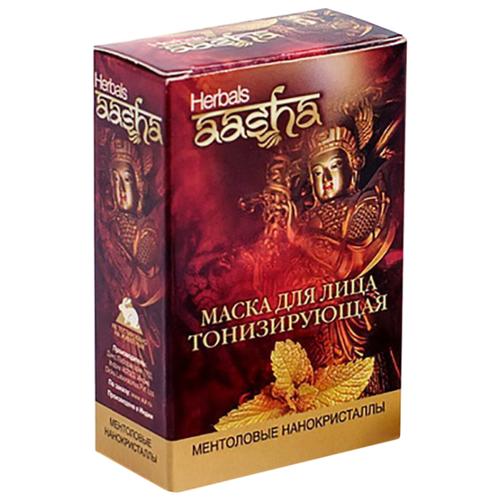Aasha Herbals Маска для лица тонизирующая Ментоловые нанокристаллы, 10 г, 5 шт.Маски<br>