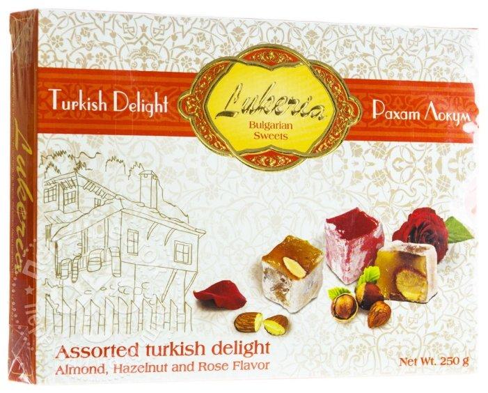 Рахат-лукум Lukeria Ассорти с орехами и ароматом розы 250г