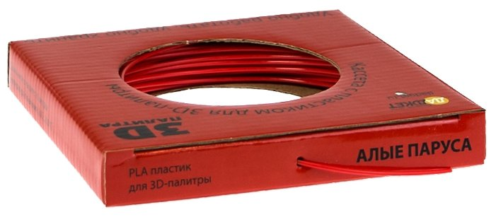PLA пруток Даджет 1.75 мм красный
