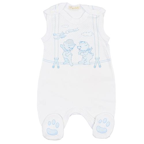 Полукомбинезон Linas Baby размер 56 (0-1), голубойБрюки и шорты<br>