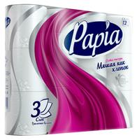 Туалетная бумага Papia Bali flower белая трёхслойная 4 шт.