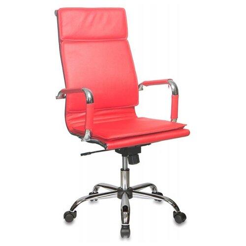 Компьютерное кресло Бюрократ CH-993 для руководителя, обивка: искусственная кожа, цвет: красный
