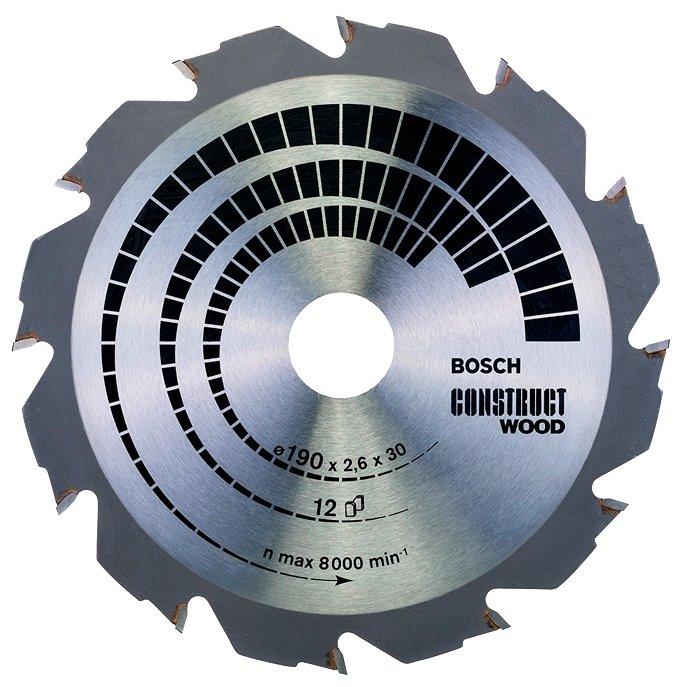 Пильный диск BOSCH Construct Wood 2608640633 190х30 мм