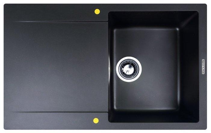 Врезная кухонная мойка 77.5 см Zigmund & Shtain RECHTECK 775 0029308 черный базальт
