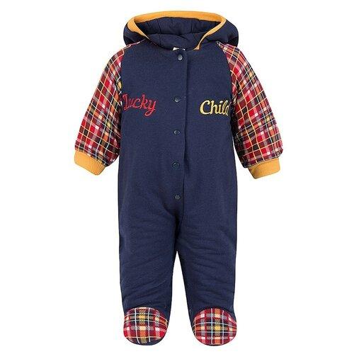 Купить Комбинезон lucky child размер 18, темно-синий/красный/горчичный, Комбинезоны