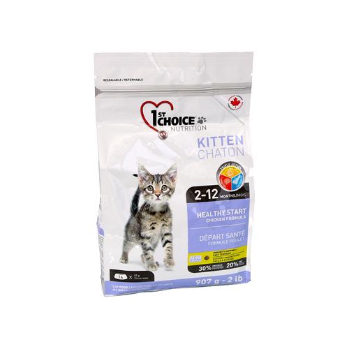 Сухой корм для котят 1st Choice Kitten Здоровый старт, для, с курицей 907 г