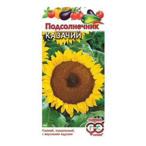 семена подсолнечник золушка 0 5 г Семена Гавриш Подсолнечник Казачий 10 г, 10 уп.