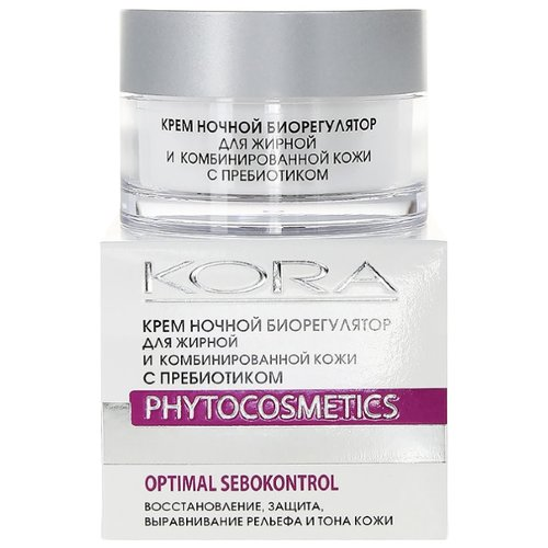 Kora Phytocosmetics Крем ночной биорегулятор для лица для жирной и комбинированной кожи, 50 мл крем kora крем для сухой кожи