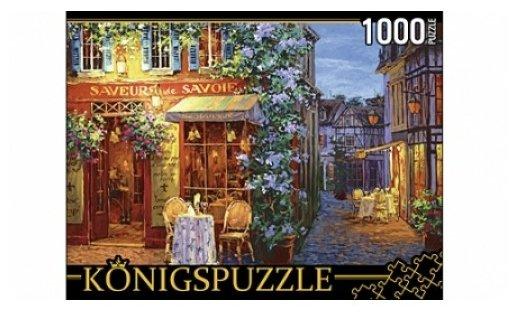 Пазл Рыжий кот Konigspuzzle Виктор Швайко Уличное кафе (АЛК1000-8253), 1000 дет.