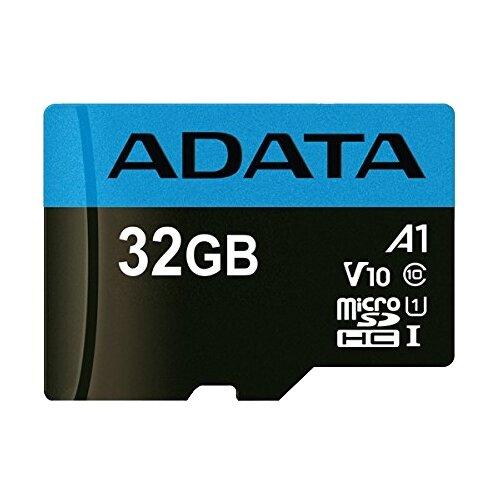 Карта памяти ADATA Premier microSDHC UHS-I U1 V10 A1 Class10 32GB + SD adapter