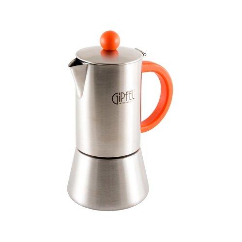 Гейзерная кофеварка GIPFEL Crupp 5316 200 мл, оранжевый