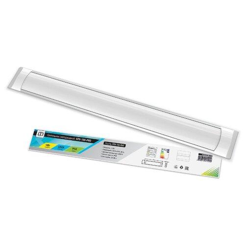 Фото - Светодиодный светильник LLT SPO-108-PRO (18Вт 4000К 1300Лм), 59 х 7.5 см светодиодный светильник llt spo 110 prizma 36вт 6500к 3000лм 120 х 6 1 см