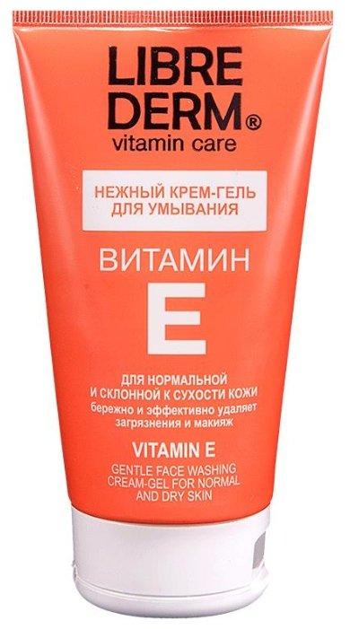 Librederm Vitamin E Gentle Face Washing Cream-Gel - Крем-гель для умывания с витамином Е, 150 мл