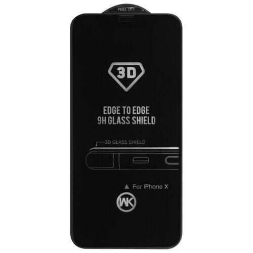 Защитное стекло WK Thunder 3D Curved Edge Tempered Glass для Apple iPhone X черныйЗащитные пленки и стекла<br>