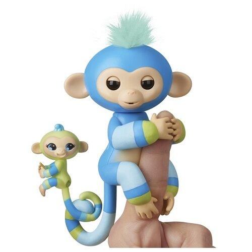 Интерактивная игрушка робот WowWee Fingerlings Ручная обезьянка с малышом Билли с малышом, Роботы и трансформеры  - купить со скидкой