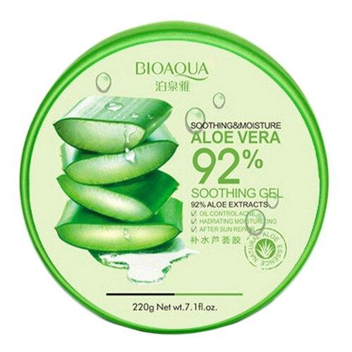 Гель для тела BioAqua Aloe Vera 92% Soothing Gel Увлажняющий гель с натуральным соком алоэ для лица и тела, 220 г гель для лица и тела
