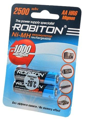 Аккумулятор Ni-Mh 2500 мА·ч ROBITON AA HR6 Mignon 2500