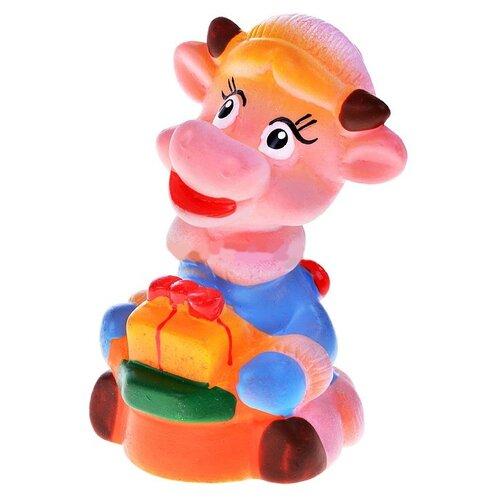 Купить Игрушка для ванной Кудесники Коровка (СИ-166) розовый/голубой, Игрушки для ванной