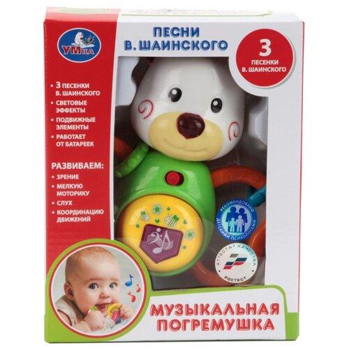 Купить Прорезыватель-погремушка Умка Медвежонок B885520-R бежевый/зеленый/желтый, Погремушки и прорезыватели