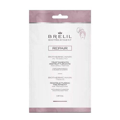 Фото - Brelil Professional BioTraitement Repair Маска для волос восстанавливающая Biothermic, 35 мл brelil professional маска biotraitement colour для окрашенных волос 220 мл