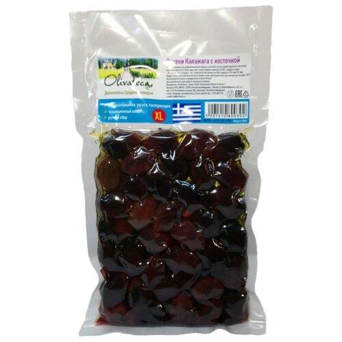 OLIVATECA Оливки Каламата с косточкой XL, вакуумный пакет 250 гМаслины, оливки, каперсы консервированные<br>