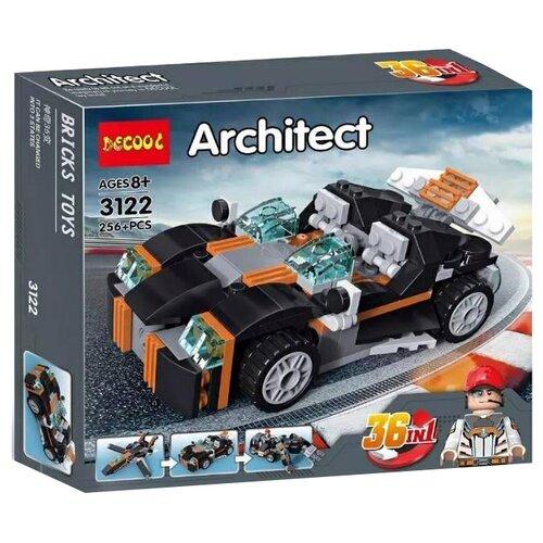 Конструктор Jisi bricks (Decool) Architect 3122 Автомобиль - трансформер