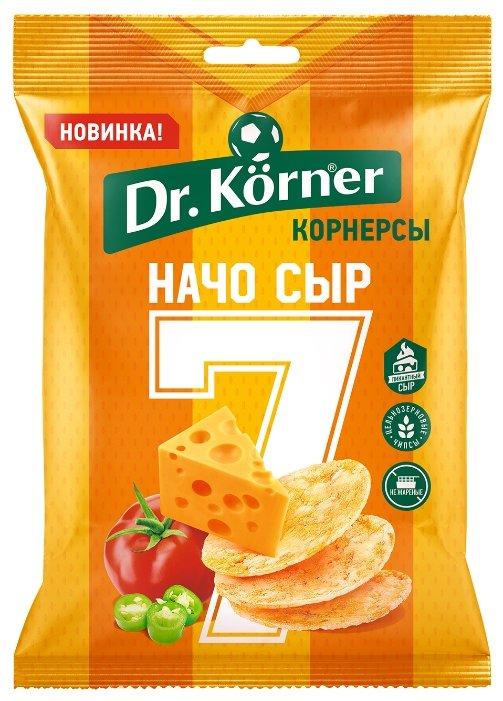 Чипсы Dr. Korner цельнозерновые кукурузно-рисовые корнерсы Начо сыр