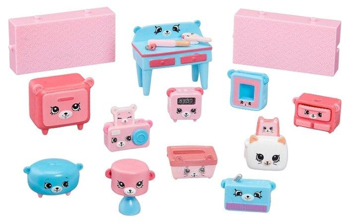 Игровой набор Moose Shopkins Счастливые места Мишки для спальни 56378
