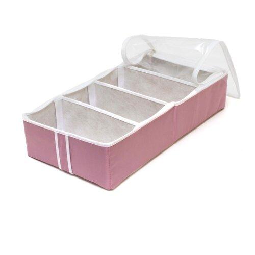 HOMSU Органайзер для обуви на 4 бокса Capri розовый/белый homsu органайзер homsu для обуви 5 отделений 100 32 11 см maestro