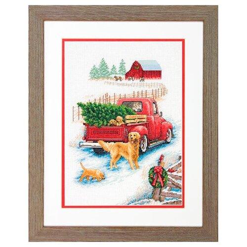Dimensions Набор для вышивания крестиком Зимняя поездка 25,4 х 35,5 см (08971)Наборы для вышивания<br>