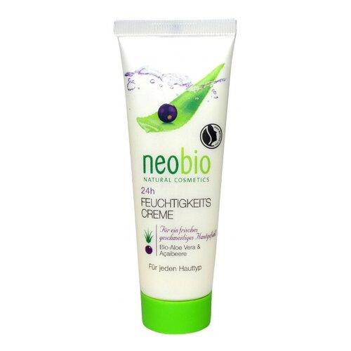 Neobio 24 часа увлажняющий крем для лица с био-алоэ и био-асаи, 50 мл детская косметика neobio крем с био алоэ и био календулой для младенцев для защиты кожи в области пеленания