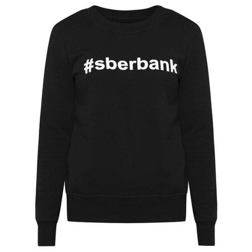 Свитшот #sberbank женский размер 44, черныйОдежда и аксессуары<br>