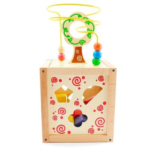 Купить Сортер Мир деревянных игрушек Логический кубик Д014, Сортеры