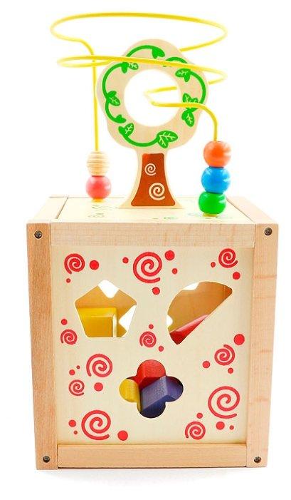 Сортер Мир деревянных игрушек Логический кубик Д014