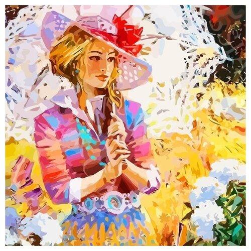 """Color Kit Открытка по номерам """"Дама в саду"""" 30х30 см (AC013)"""