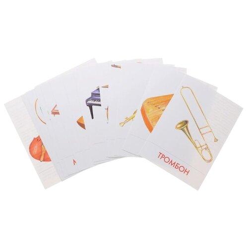 Набор карточек Маленький гений Музыкальные инструменты 20x15 см 16 шт.Дидактические карточки<br>