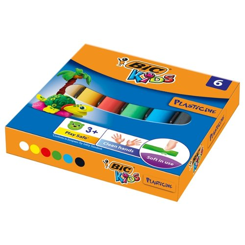 Пластилин BIC Kids 6 цветов, 60 г (947712)