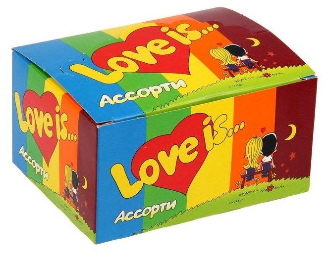 Жевательная резинка Love Is ассорти — 100 шт.