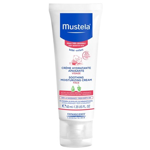 Mustela Крем для лица увлажняющий успокаивающий, 40 мл mustela цена в россии