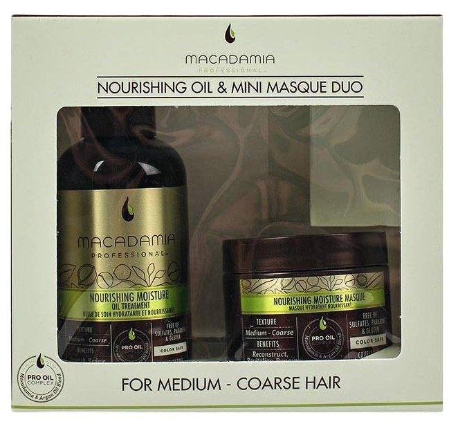 Macadamia Nourishing Moisture Маска и масло (набор) для волос