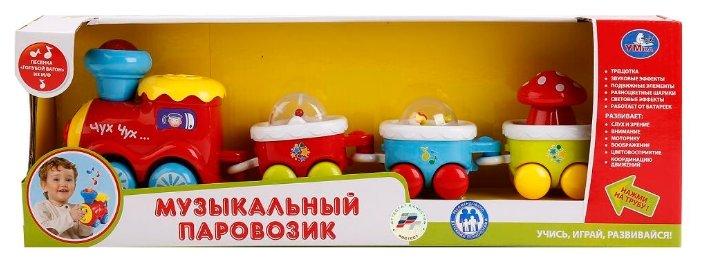 Интерактивная развивающая игрушка Умка Музыкальный паровозик (1303-R)