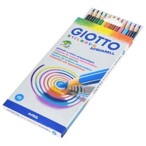 GIOTTO Акварельные карандаши Stilnovo 12 цветов (255700), Цветные карандаши  - купить со скидкой