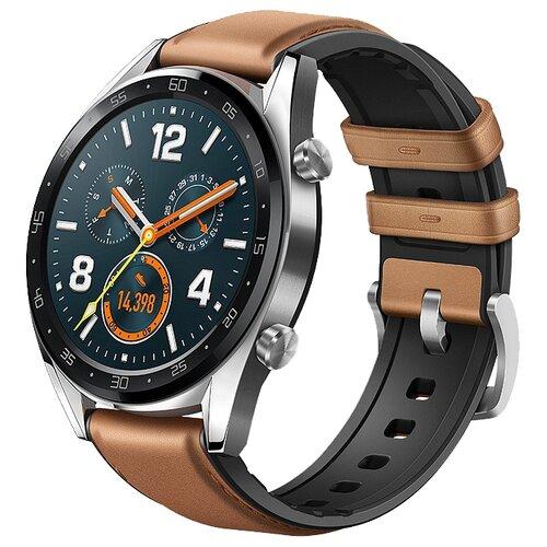 Умные часы c GPS HUAWEI Watch GT Classic коричневый умные часы c gps huawei watch gt classic коричневый