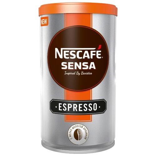 Кофе растворимый Nescafe Sensa Espresso с молотым кофе, жестяная банка, 100 г банка для кофе easy life время кофе 13 8 21 см