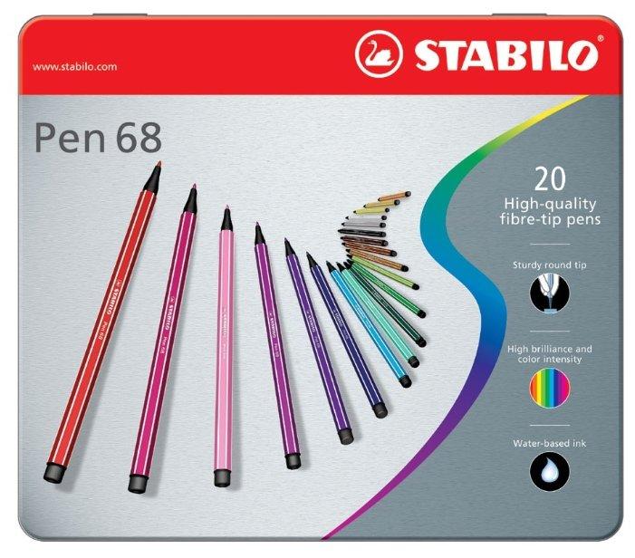 STABILO Набор фломастеров Pen 68, 20 шт. (6820-6)