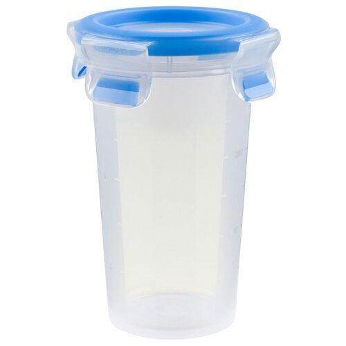 EMSA Контейнер CLIP & CLOSE круглый 508551 синий/прозрачный emsa контейнер optima 513555 белый прозрачный