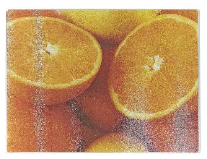 Разделочная доска Best Home Kitchen 5341051 Апельсин 40х30х0,5 см рифленая