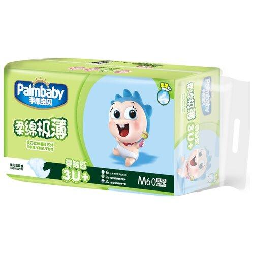 Купить Palmbaby подгузники Ультратонкие M (6-11 кг) 60 шт., Подгузники