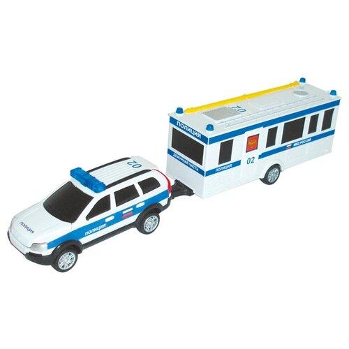 Легковой автомобиль Autogrand Command Centre полиция с прицепом (34201) 1:32 белый/синий